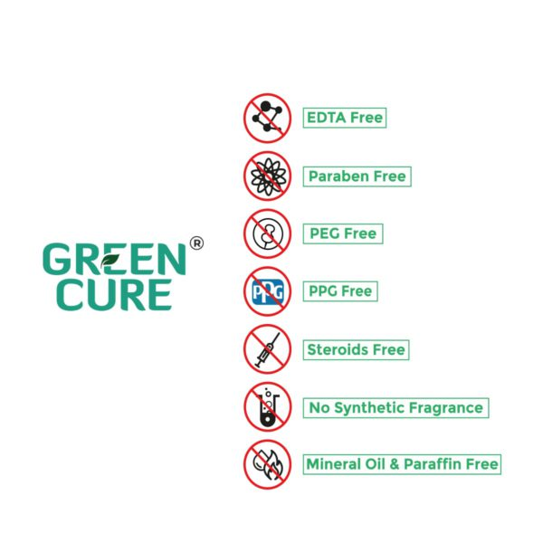 Green Cure Promise - no harmful chemical, excipients from your beauty cosmetic products