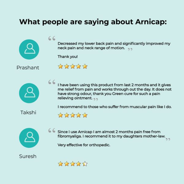 ArniCap – Best Herbal Pain Relieving Cream