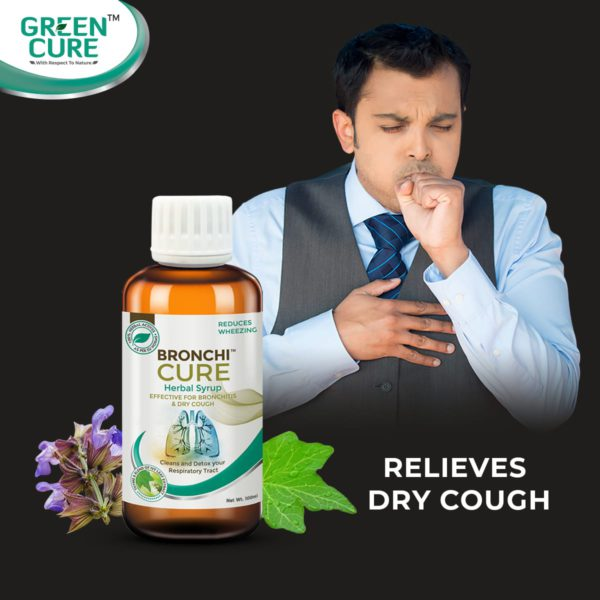 Bronchicure - Effective for Bronchitis & dry cough, 100% herbal lung care syrup