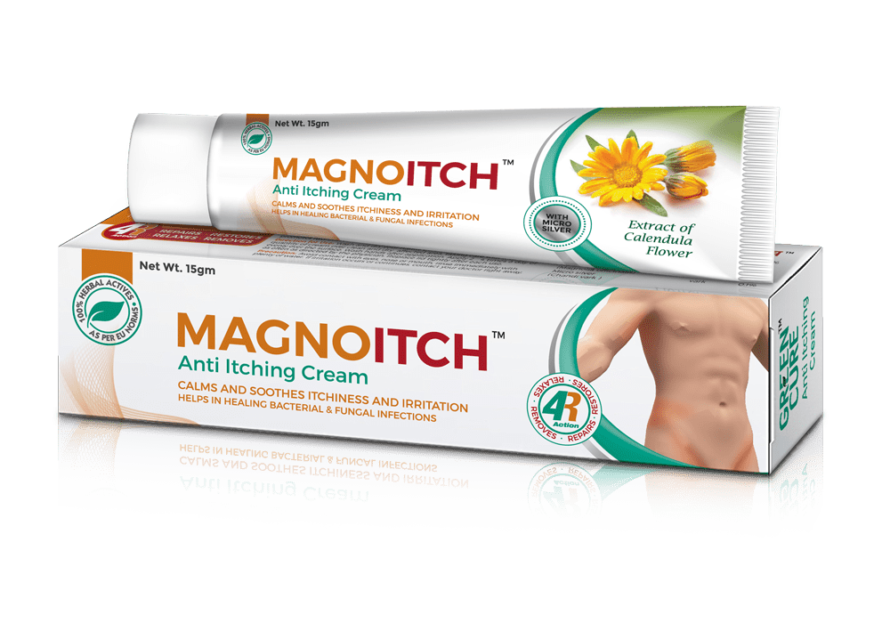 MagnoItch - hydrates, calms and soothes itchiness and irritation due to dry skin, effective for fungal infection and bacterial Infection